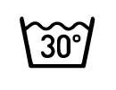 LAVAR A MANO O A MÁQUINA EN CICLO DELICADO CON AGUA FRIA MAXIMO A 30ºC, CON JABÓN O DETERGENTE NEUTRO CON COLORES SIMILARES